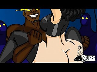 Superheroine taking big black cock by A group of brothas