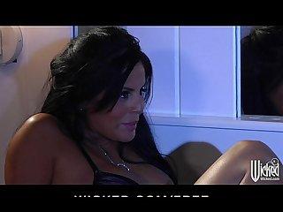 Stunning big tit brunette mikayla mendez rides big dick to orgasm