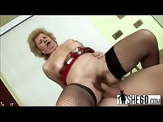 Old granny fucking with younger lover-hi-3