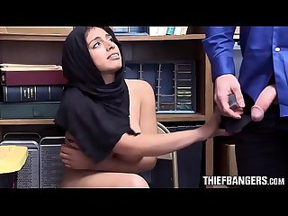 Busty muslim thief ella knox apprehended fucked by store guard