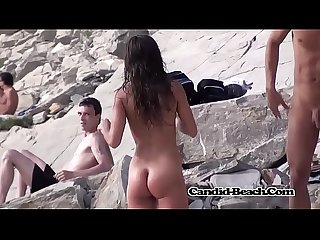 Curvy teen Naked At The Beach SPycam