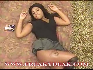 Freakydeak com my pretty black girlfriend gets face full of cum