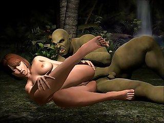 3d jungle monster fucking