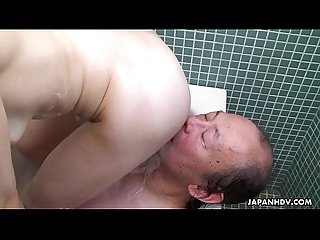 asian bitch in the bath getting her pussy eaten out