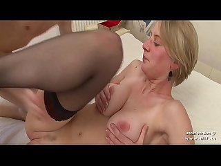 Gorgeous amateur big boobed french blonde analyzed n jizzed on tits