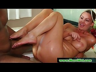 Masseuse offers anal sex during a nuru massage 15
