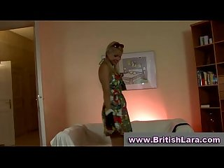 Mature british lady dresses young blonde in stockings
