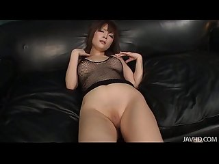 Riona looks Sexy in black and her husband bends her over to toy her pink pussy w
