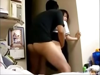 Japanese Teen Couple Fucking Doggystyle On Their Webcam