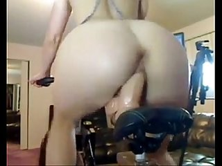 Riding the Exercise Bike, Free Masturbation Porn @ harr0.com