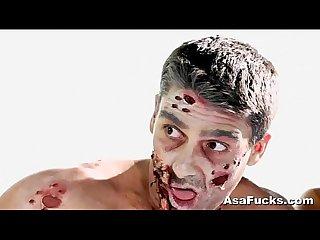 Asa akira s zombie anal creampie