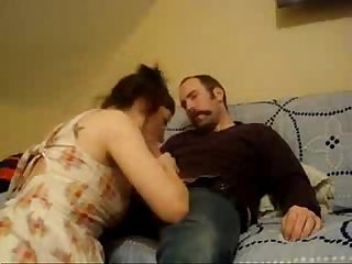 Emo cheating wife fucked by her well hung husband