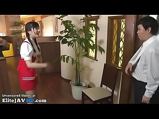 Japanese young maid satisfies client more at elitejavhd com