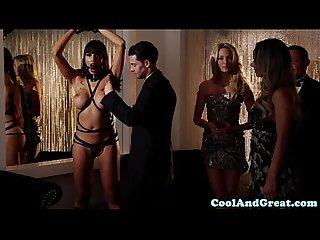 Glamcore swingers dp action during a foursome
