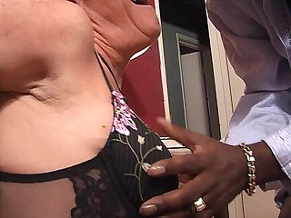 Milf riding big black cock