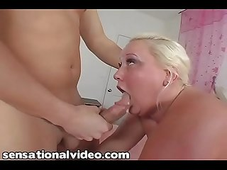 Sienna hills 2 fat ugly white bitch with huge tits sucks white dick