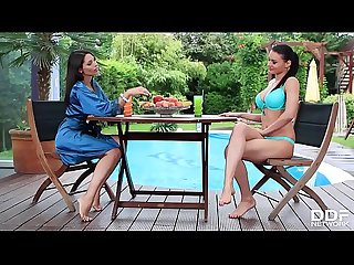 Stunning Lesbians zafira kitana lure indulge in fetish while finger Fucking till orgasm