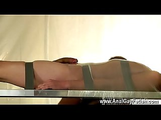 Sexy young gay boys jerking off movietures Taped Down Twink Drained