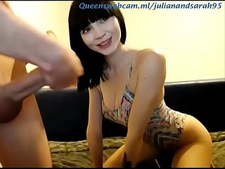 Super sexy brunette blowjobs her boyfriend's big cock on wWw.QueensWebcam.ML
