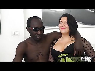 Casting alla italiana romanian Bbw takes Anal at Interracial italian casting