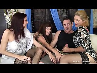 3 cougars wild group sex with guy bestporno net