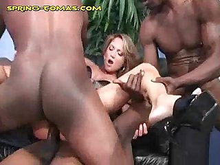Interracial Double Fucking Penetration
