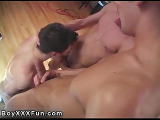 Hot gay cody comma giovanni and karter deep throat each other S penises in