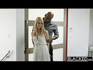 BLACKED Hot Blonde Girl Cadenca Lux Pays Off Boyfriends Debt By Fucking BBC