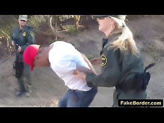 Teen immigrant drilled by the border ranger S hard cock