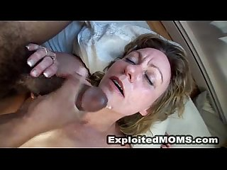 Amateur Mom Loves Black Cock in Interracial Mature Video