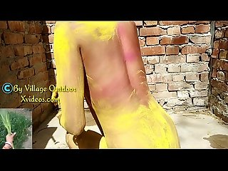 Indian holi special video village outdoor Hindi video