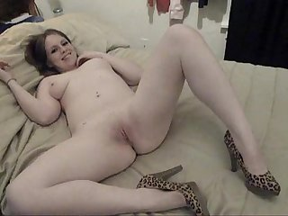 Sexy skinned girl with big vibrator