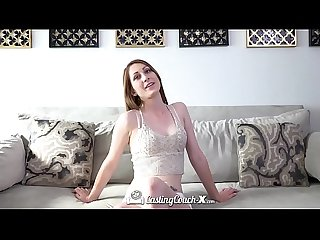 Castingcouch X amateur Nina skye first time fuck on film