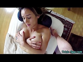 Milf gets pov massaged