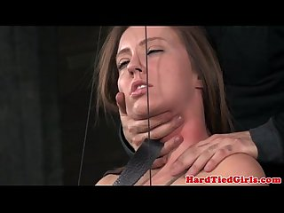Restrained skanky sub gets electrosex