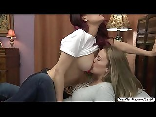 Hot Teen Lesbians vanessa veracruz and ryan ryans rubbing pussies and in scissor