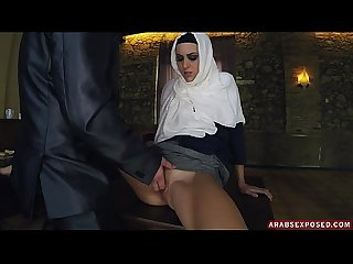 Petite Arab Sucks Fat American Dick