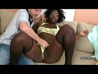 Big ebony teen booty getting fucked