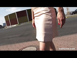 Mature euro prostitute gets picked from the street and fucks