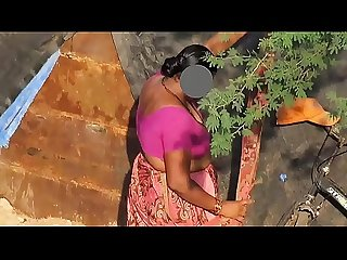 Nonude Indian Desi Bhabhi cleavage changing saree