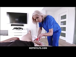 Big Tits Nurse MILF Step Mom Makes Step Son's Cock After Skateboarding Incident POV
