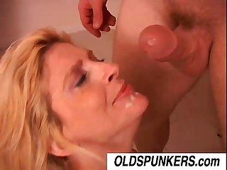 Sugar is a sexy blonde milf who loves the taste of cum