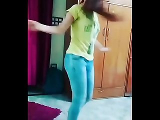 Indian teen dancing