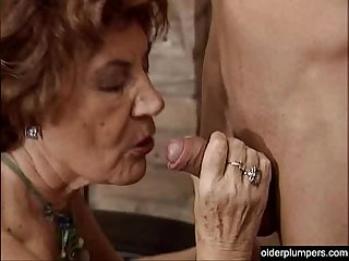 Granny seducing horny guy