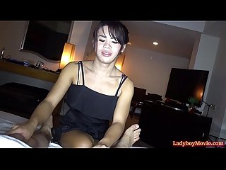 Ladyboy yo Massage and bareback anal