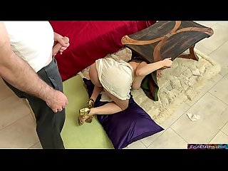 Nagging Stepmother wants her stepson to clean but gets stuck and fucked instead - Erin Electra
