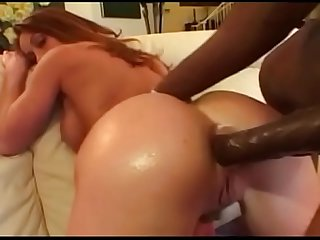 Slut fucked very hard in the Ass by big black cock