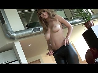 Shay Laren - HD leather strip and masturbate