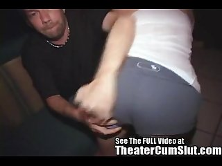 Teen tammi gets ass her fucked in the local porno theater