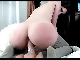 Big ass babe rides on dildo - Watch part 2 on getgirls.online